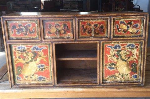 Three Drawer Tibetan Cabinet