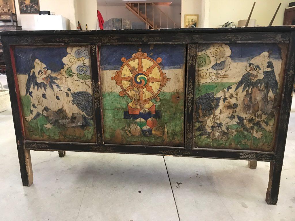 Antique Monastery Cabinet