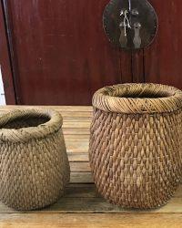 Handwoven Baskets- Mid Twentieth Century