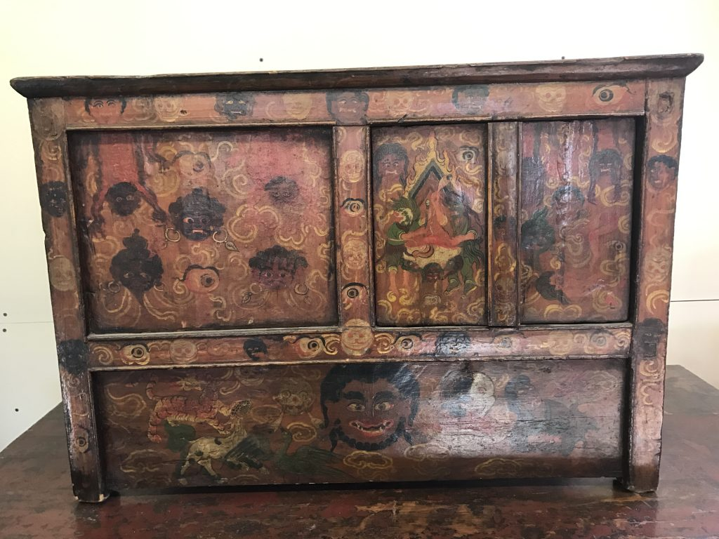 Small Tibetan Ghost Cabinet