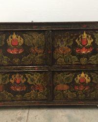 Tibetan Cabinet with Flaming Jewel Design