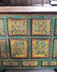 Mid Century Larger Tibetan Cabinet